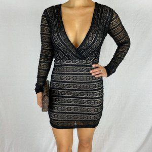 Endless Rose Black Lace Bodycon Dress